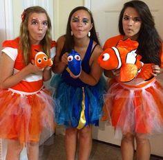 Nemo, dory , marlin costumes