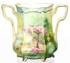 UNMARKED R.S.PRUSSIA TWO HANDLED TOOTHPICK HOLDER $150
