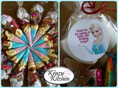 Frozen sweetie cones - great replacements for party bags :) #sweets #frozen #partybags