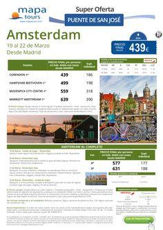 Amsterdam Puente de San José salida Madrid **Precio Final desde 439** ultimo minuto - http://zocotours.com/amsterdam-puente-de-san-jose-salida-madrid-precio-final-desde-439-ultimo-minuto-2/