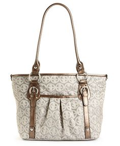 Giani Bernini Handbag, Circle Signature Tulip Tote - Giani Bernini - Handbags & Accessories - Macy's