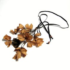 floral necklace paper flower jewelry first by frankideas on Etsy, $55.00