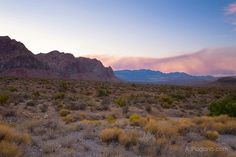 Red Rock Las Vegas smoke from Mt Charleston fire