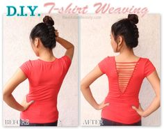 Real Asian Beauty: DIY : T-Shirt Weaving / Laddering
