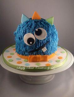 Monster Smash Cake regarding Trending This Year - Birthday Ideas Make it Monster Smash Cakes, Monster Birthday Cakes, Little Monster Birthday, Monster 1st Birthdays, Monster Birthday Parties, Cake Smash, First Birthday Parties, First Birthdays, Little Monster Party