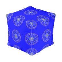 #Kaleidoscope Art #Blue Pouf #Cube #Pouf