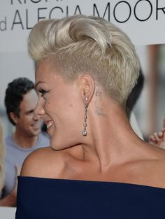 Short Hairstyles Lookbook: Pink wearing Fauxhawk (8 of 56). Pink sported a funky fauxhawk when she attended the 'Thanks for Sharing' premiere.