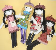 LISA- Cloth doll pdf pattern ... Great homemade gift!