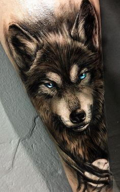 50 of the most beautiful wolf tattoo designs the internet has ever seen - fantas . - 50 of the most beautiful wolf tattoo designs the internet has ever seen – fantastic wolf tattoos - Wolf Tattoo Sleeve, Quarter Sleeve Tattoos, Best Sleeve Tattoos, Sleeve Tattoos For Women, Tattoos For Guys, Tattoo Wolf, Wolf Tattoos Men, 3d Tattoos, Animal Tattoos