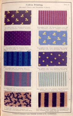 37 vintage colored clothing fabrics (1902)