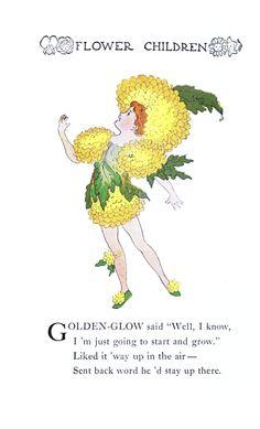 Flower Children By Elizabeth Gordon Vintage Reproduction Photo Print No # 80 of 84 by A4Printsuk on Etsy
