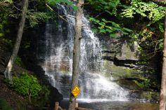 Climbing of the Falls: Bushkill Falls