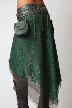 2 Pocket Long Wrap Skirt- Lagoon [GV72-Lagoon] - $450.00 : Crystal Tara, Visionary Art T-shirts and Clothing