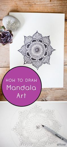 """Mandala means """"circle"""" or center point. They often convey balancing elements, symbolizing unity and harmony. Nowadays, mandalas have become part of what many call therapeutic coloring pages. Learn how to DIY here: http://www.ehow.com/how_12343341_draw-mandala-art.html?utm_source=pinterest.com&utm_medium=referral&utm_content=freestyle&utm_campaign=fanpage"""