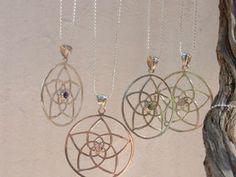Kette Venusblume Symbol heilige Geometrie