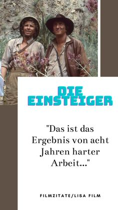 "Filmzitat aus dem Film ""Die Einsteiger"" #dieeinsteiger #lisafilm #kultfilm #thomasgottschalk #mikekrüger #unterhaltungausleidenschaft #amazonprime Lisa, Kult, Videos, Cards, Movies, Movie Posters, Movie, Film Quotes, Hard Work"