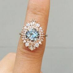 I adore this ring! The Waterfall Cambria in rose gold with an 8mm (2 carat size)…