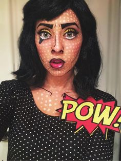 DIY Pop Art Comic Halloween Costume and Makeup!
