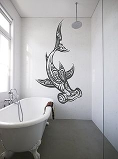 ik1198 Wall Decal Sticker Tattoo hammerhead shark style fish bathroom living room StickersForLife http://www.amazon.com/dp/B00XE53VJA/ref=cm_sw_r_pi_dp_B9Vtvb1GRZG7S