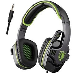 Sades - SA708 Stereo Gaming Headset - Xbox One (compatible w/ Xbox One controller w/ 3.5mm headset jack) and PS4 by Sades http://amzn.to/2bTNJaN via @amazon
