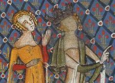 Lancelot du Lac, 1345+, Tournai, BNF Ms. fr. 122 f.109v.