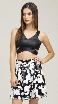 Sexy Cutout Liquid Crop Top