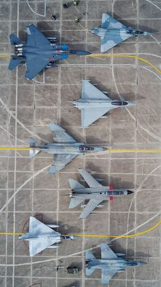 The need for high speed fighter jets has been addressed by several different countries and companies, which has generated several different designs.  They each started with a basic idea of what one should be, and then changed it to fit with their group.