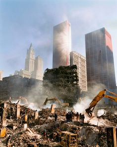 Smoke rising in sunlight at the wreckage of Ground Zero, New York City, 2001 © Joel Meyerowitz Stephen Shore, Eugene Atget, Robert Frank, William Eggleston, Saul Leiter, Street Photographers, Landscape Photographers, Ground Zero Nyc, 11 September 2001