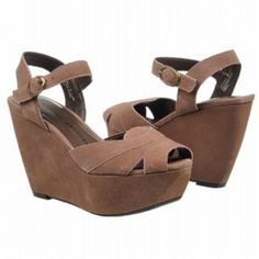 SALE - Chinese Laundry Get Away Wedge Heels Womens Beige Suede - Was $79.00 - SAVE $4.00. BUY Now - ONLY $75.05.