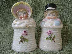 Vintage Antique Kate Greenaway Porcelain Figural Salt Pepper Shakers | eBay