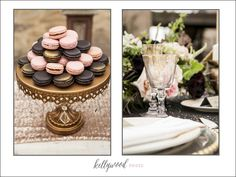 Hair and Makeup: the doll service Furniture: rickety swank Macarons: la reine des macarons Cake: hey there, cupcake! Cupcakes: frost me gourmet Gowns: the dress theory Tux: friar tux Chargers: classic party rentals Linens: concepts event design Venue: francis parker