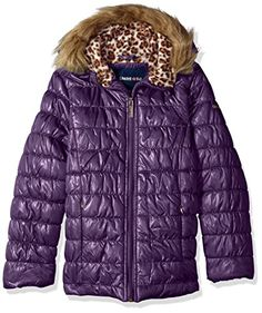 Limited Too girls quilted jacket with cheetah print Product Features  Cheetah print fleece lined body and hood Faux fur trim hood 2 zippered pockets  $17.92