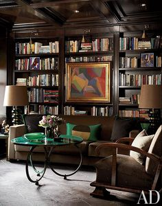 Traditional Office/Library by Jean-Louis Deniot in Chicago, Illinois