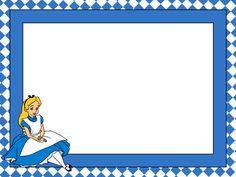Alice in Wonderland: Free Printable Notebook in Blue. Alice In Wonderland Printables, Alice In Wonderland Cartoon, Alice In Wonderland Tea Party, Disney Images, Disney Art, Free Printable Business Cards, Party Cartoon, Mad Hatter Tea, Disney Scrapbook