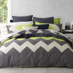 Marley Lime Quilt Cover Set