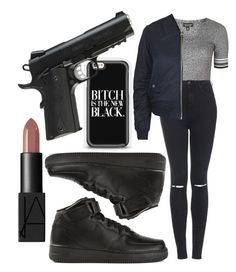 """""""Untitled #168"""" by dianablvck ❤ liked on Polyvore featuring Topshop, NIKE and NARS Cosmetics"""
