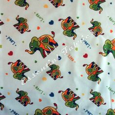 PUL Diaper Cut 18 inches by 20 inches - Polyester - Elephant Love Print - 1 mil. $4.00, via Etsy.