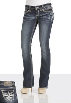 Trademark H® Iconic Slim Boot Jeans available at #Maurices. Love these jeans.
