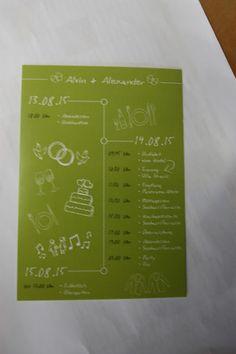 Time Line Cards in Apfelgrün und Weiß