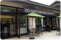 Island Vintage Coffee. Hawaii coffee house. This one located at Ko Olina Station, Oahu. Must visit!