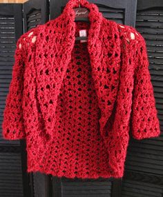 Crochet Sweaters Ravelry: Olivia's Shrug pattern by Lion Brand Yarn - Crochet Coat, Crochet Jacket, Crochet Cardigan, Crochet Scarves, Crochet Clothes, Crochet Sweaters, Crochet Shrugs, Lion Brand, Crochet Shrug Pattern Free