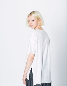 CAMISETA BÁSICA OVERSIZED - Camisetas - Ropa - Mujer - PULL&BEAR España