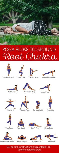Feel Grounded and Safe With Root Chakra Yoga ?You can find Yoga sequences and more on our website.Feel Grounded and Safe With Root Chakra Yoga ? Yoga Yin, Hormon Yoga, Sup Yoga, Yoga Hatha, Chakra Yoga, Yoga Kundalini, Yoga For Chakras, Chakra Meditation, Meditation Music