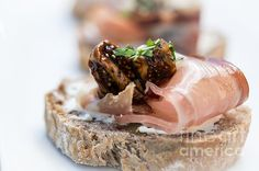 Prosciutto Crostini Photograph by Sabine Edrissi - Prosciutto Crostini Fine Art Prints and Posters for Sale sabine-edrissibredenbrock.artistwebs