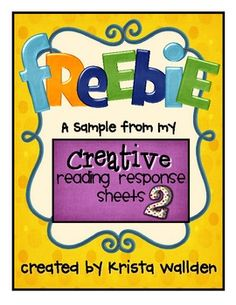 Check out this free sample from my Creative Reading Response Sheets 2! These response sheets can be used with ANY book. Brand new themes and activities will provide the variety you need to keep your kiddos engaged and motivated. If you like these samples pages, please check out the complete packet at my store!
