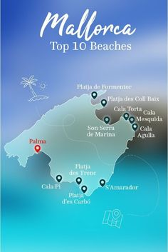 The Top 10 Beaches in Mallorca! Here's the overview. # … – Europa The Top 10 Beaches in Mallorca! Here's the overview. Pretty Beach, Beach Fun, Beach Trip, Beach Travel, Honeymoon Cruise, Honeymoon Destinations, Mallorca Beaches, Mallorca Island, Honeymoon Pictures