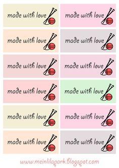 etiquetas imprimibles de regalo para los calceteros y amantes de tejer - ausdruckbare Geschenkkärtchen / Etiketten - freebies | MeinLilaPark - printables bricolaje y descargas