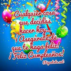 tarjetas con imagenes de feliz cumpleaños Happy Birthday Cards, Birthdays, Holiday, Meme, Polyvore, Flower, Saints, Birthday Captions, Birthday Congratulations