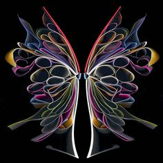 Butterfly Paper art, Cara Barer molds old books into abstract sculptural pieces and photographs them against a black backdrop