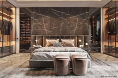 30 Awesome Luxury Bedroom Design Ideas You Never Seen Before - A number of interior designers have had successes from previous designs that capture the plain white room into something that can distract an owner de. Modern Luxury Bedroom, Luxury Bedroom Design, Master Bedroom Interior, Bedroom Closet Design, Modern Master Bedroom, Luxury Home Decor, Luxurious Bedrooms, Home Bedroom, Home Interior Design